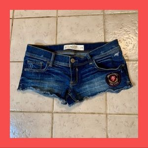 2/$25 Abercrombie & Fitch Super Short denim shorts